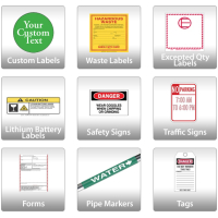 Signs, Labels, Placards, Pipe Markers