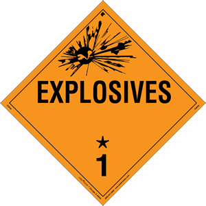 Explosives Placard