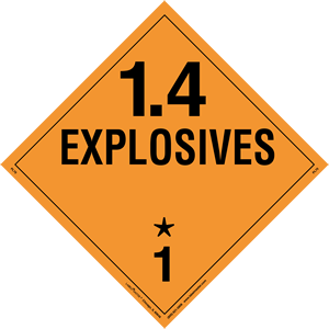 Explosives 1.4 Placard