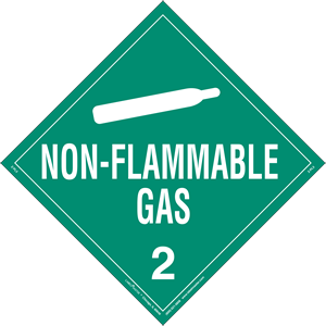 Non-Flammable Gas Placard