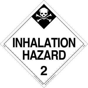 Hazard Class 2 Inhalation Hazard Placard