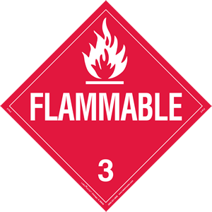 Flammable Liquid Placard