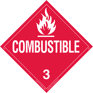 Combustible Liquid Placard