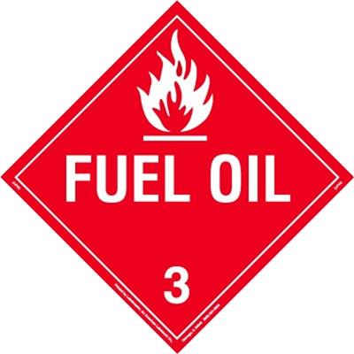 Fuel Oil Placard