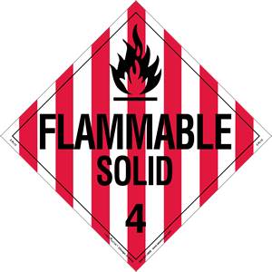 Flammable Solid Placard