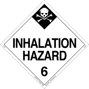 Hazard Class 6 Poison Inhalation Hazard Placard