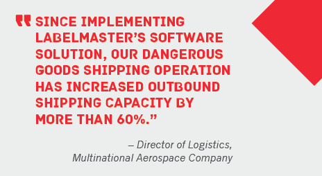 Customer quote - DGIS has increased outbound shipping capacity by more that 60 percent