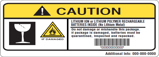 Get Custom Lithium Battery Labels