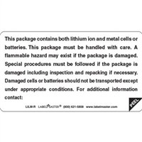 Lithium Battery Peel Away Document