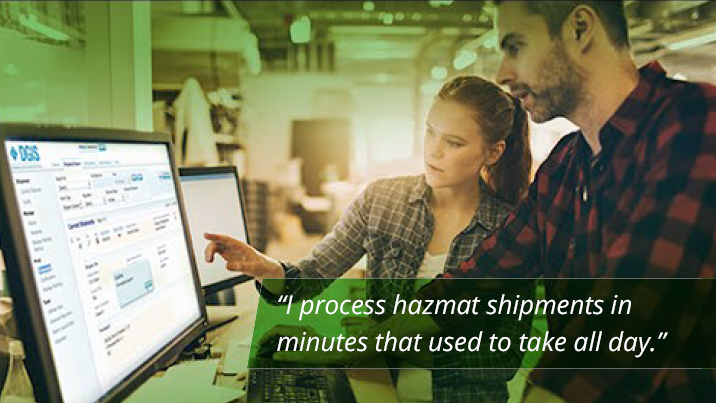 DGIS - Business: I process hazmat shipments in minutes that used to take all day