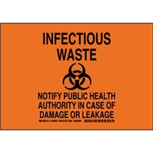 Infectious Waste Notify Public Health Authority In Case Of Damage Or Leakage Signs