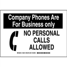 Company Phones Are For Business Only No Personal Calls Allowed Signs