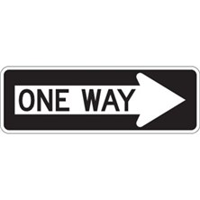 One Way (With Right Arrow, 36 x 12)