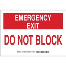 Emergency Exit Do Not Block Signs