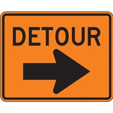 Detour With Right Arrow