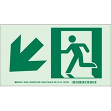 Running Man Picto Only (With Left Down Arrow) Signs