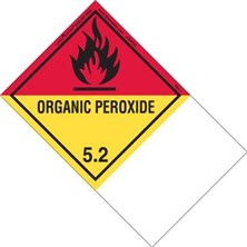 Blank Shipping Name Revised Organic Peroxide Labels