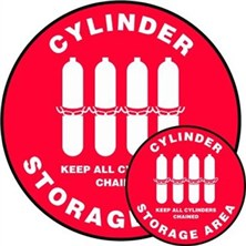 Cylinder Storage Area Keep all Cylinders Chained Signs