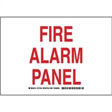 Fire Alarm Panel Signs