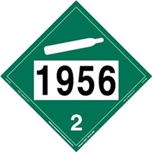 Non-Flammable Gas 4 Digit Placards
