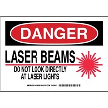 Danger - Laser Beams Do Not Look Directly At Laser Lights Signs