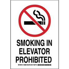 Smoking In Elevator Prohibited Signs