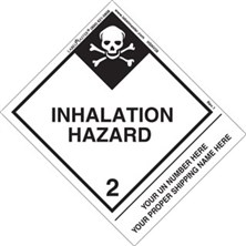 Personalized Shipping Name Inhalation Hazard Labels