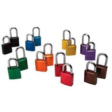 "Aluminum 1"" Shackle Padlocks, Keyed Different"