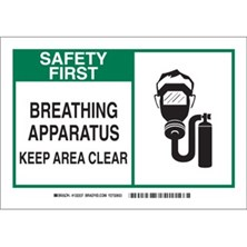 Breathing Apparatus Keep Area Clear (With  Picto) Signs
