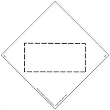 Blank, Square-on-Point Markings
