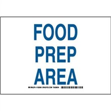 Food Prep Area Signs