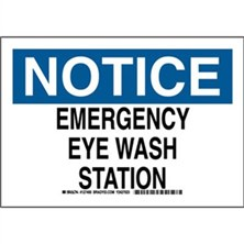 Notice - Emergency Eye Wash Station Signs