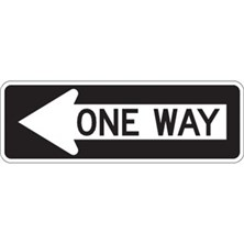 One Way (With Left Arrow, 36 x 12)