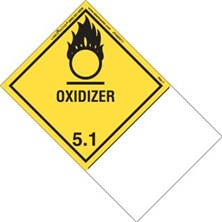 Blank And Pre-Printed Shipping Name Oxidizer Labels