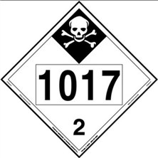 UN 1017 Inhalation Hazard Placard
