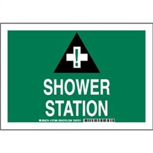 Shower Station Signs