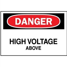 Danger, High Voltage Above