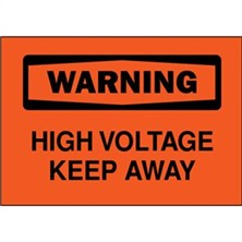 Warning, High Voltage Keep Away