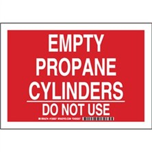 Empty Propane Cylinders Do Not Use Signs