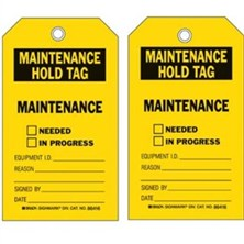Maintenance Hold Tags