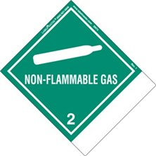Blank And Pre-Printed Shipping Name Non-Flammable Gas Labels