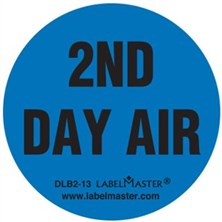 2nd Day Air circle labels