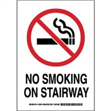 No Smoking On Stairway Signs