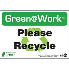 Green@Work - Please Recycle Signs