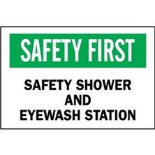 Safety First, Safety Shower And Eye Wash Station