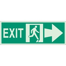 Exit (With  Running Man Right Picto) Signs