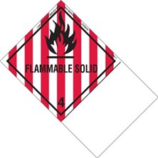 Blank Shipping Name Flammable Solid Labels