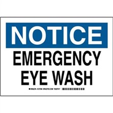 Notice - Emergency Eye Wash Signs