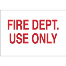 Fire Dept Use Only