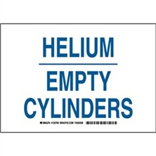 Helium Empty Cylinders Signs